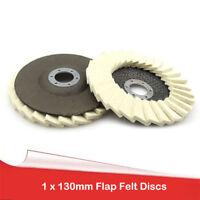 "Ø130mm 5"" Flap Felt Disc Polishing Angle Grinder Buffing Wheel Metal Best Price"