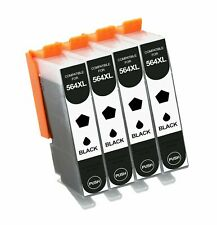 4Pk Black Ink Cartridge For HP 564XL Photosmart 5510 7525 6510 6520 7510 7520 bk