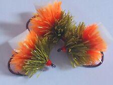 NEW X 3 DAMSEL NEON SUNBURST FAB  BLOBS/TROUT FLIES/ LURES FLY FISHING.