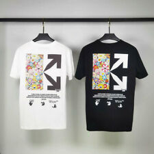 OFF-WHITE 2020SS Murakami Sunflower Joint Style Short sleeve Mens T-shirt
