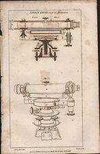 1808 ANTIQUE PRINT ~ SPIRIT LEVEL RAMSDEN ~ DIAGRAMS SECTIONAL