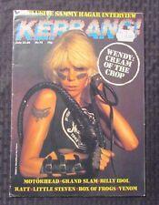 1984 KERRANG Magazine #72 FN+ Wendy O Williams Plasmatics Motorhead