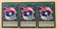 3 X SOFU-EN050 - CYNET FUSION - Rare 1st Edition Yugioh NEW