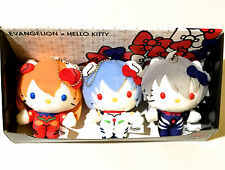 HELLO KITTY EVANGELION KAWORU REI ASUKA Plush Doll RARE Limited Complete set