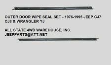 New Outer Door Glass Seal Pair / For 1987-95 Jeep Yj Wrangler