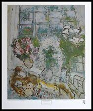 Marc Chagall The white Window Poster Kunstdruck mit Alu Rahmen schwarz 71x56cm