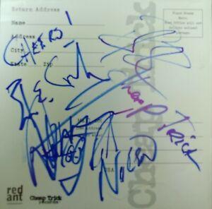 Cheap Trick original band hand-signed autographed;Robin Zander,Rick,Bun E.,Tom