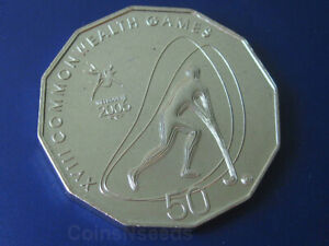 "50c Australian Coin "" Hockey ""  2006 Melbourne Commonwealth Games UNC in Card"