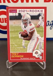 TREY SERMON RC 2021 Panini Chronicles Draft Picks Score Retro Pink Foil SP 49ers