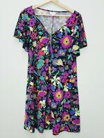 LEONA EDMISTON Ruby Womens Size 1 or AU 10 / US 6 Floral Print Dress