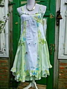 Lagenlook Sommer Kleid von Wiwi & Nana Patchwork Corsagenkleid Gr: L 42 - 44