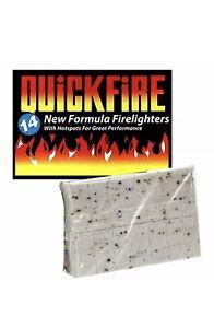 Quickfire Firelighters Fire Lighters Pack of 14 BBQ Open Fire Chimnea Camp Fire