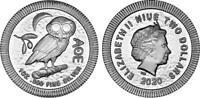 5 NEW 2020 NIUE Silver Owl of Athena 1 troy oz .999 Silver $2 Two Dollar Coin.