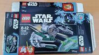 75168 Star Wars Yoda's Jedi Starfighter  Lego EMPTY BOX No Lego