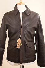 NWT $750 Cockpit USA Vintage Roughneck Leather Goatskin Jacket Small Oil Driller