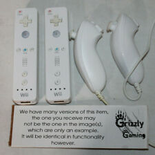 2x Genuine Nintendo Wii Remote Controllers Official Wii / Wii U + Nunchuck(s)