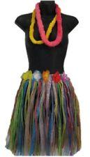 Short Hula Skirt Leis Womens Luau Hawaiian Costume Accessories Tropical Hot New