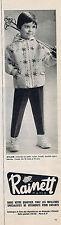 PUBLICITE ADVERTISING 094 1963 RAINETT vêtements de ski