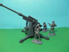 Airfix compatible 1/32 scale German 88 with 3 artillerymen (grey)