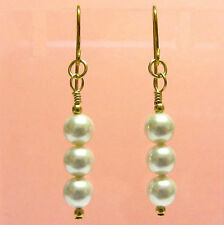 9ct Gold Earrings made with stunning White Crystal Pearls from Swarovski®