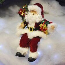Seduta Babbo Natale/Babbo Natale Figura Ornamento Decorazione di Natale