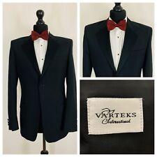 Varteks Mens Boys Tuxedo Dinner Suit Jacket 36R Black Formal    OR686