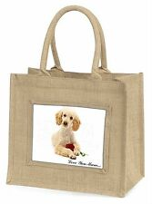 Poodle+Rose 'Love You Mum' Large Natural Jute Shopping Bag Christ, AD-CP7RlymBLN
