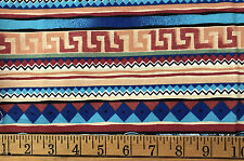 Spring Industries 44 x 36 cotton Tribal Elements Blue Southwest designs F98