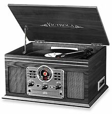 NEW Victrola® Wooden 6-in-1 Nostalgic Vintage Record Player Bluetooth Turntable