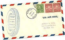 First anniversary air mail akron ohio 1929 air mail cover