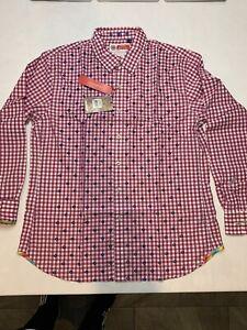 Robert Graham Mens Otter Long Sleeve Button Down Shirt Sz 3XL Pink NWT