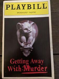 Getting Away With Murder Broadhurst Theatre Playbill March 1996 Rubinstein FLOP!