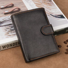 Card Holder Coin Wallet For Men Imported Cow Leather Slim Trifold Money Purse