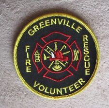 "Greenville Volunteer Fire Rescue Patch - Wisconsin - 3 1/2"" x 3 1/2"""