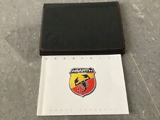 Genuine Abarth 595 owners manual + leather folder Excellent Condition 2016