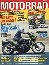 Moto 24/82 1982 Harley XLX PEUGEOT TLX 80 YAMAHA XV 750 SE DUCATI Z 1000 R