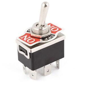 2X(2X(AC 250V / 10A 125V / 15A DPDT 3 Position ON / OFF / ON 6 Pins D6G4)