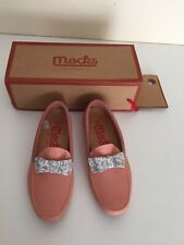 Ladies office loafers  Mocks Size 4 Worn Once.pink pastel colour