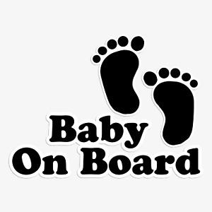 Baby On Board Sticker Funny Children Child  Car Window Windscreen Vinyl Decal