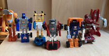 VINTAGE G1 TRANSFORMERS LOT OF 7  SEASPRAY HUFFER WHEELIE WARPATH WINDCHARGER...