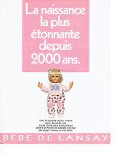 Publicité Advertising 018  1987  poupée  le bébé de Lansay