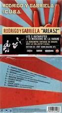 """RODRIGO Y GABRIELA & C.U.B.A. """"Area 52"""" (CD+DVD Digipack) 2012 NEUF"""