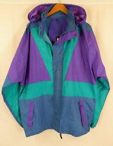 Vintage 90's Festival Style Raincoat Windbreaker Jacket Relum Weathermaster XL
