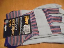 gloves work large Suede leather palm new 1 pair