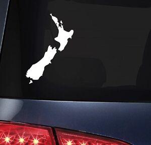 New Zealand Map Sticker, 100mm