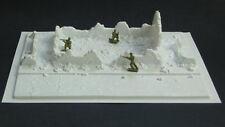 Amera diorama Vac formé endommagé Cottage Street scène de bataille Nouveau 1/72-1/76
