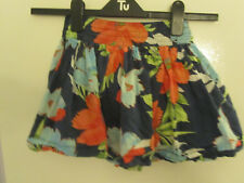 Hollister Multicoloured Floral Cotton Micro Mini Skirt in Size XS