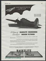 1942 WW II BEECHCRAFT US Air Corps Beech Trainer AT-10 WWII WW2 Haskelite AD