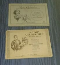 Wills Cigarette Cards Radio Celebrities First  Second Series Full Albums