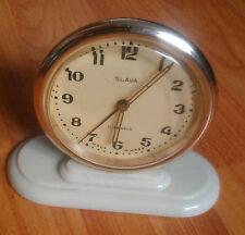 SLAVA Russian Soviet vintage mechanical table alarm clock working USSR